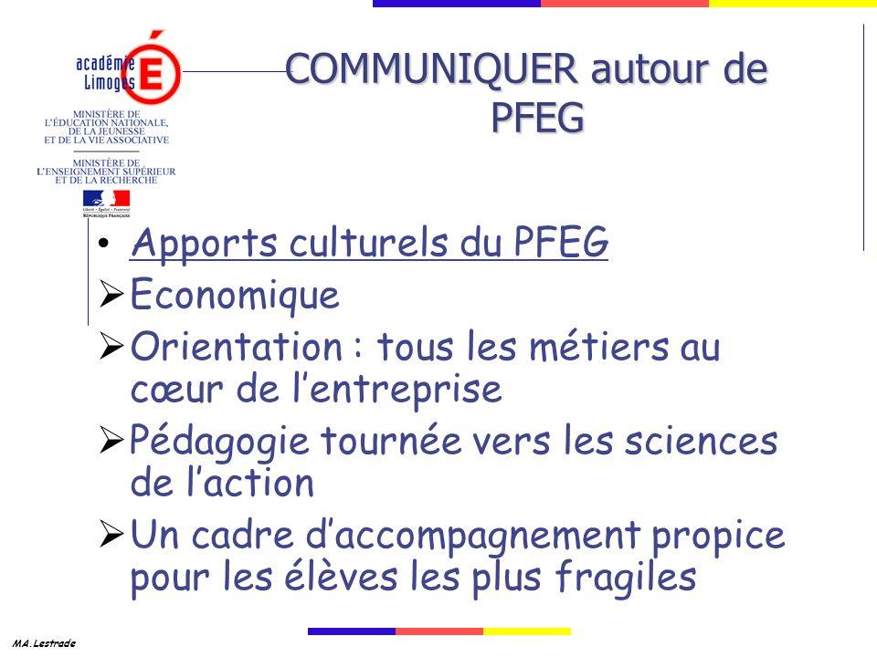 COMMUNIQUER autour de PFEG