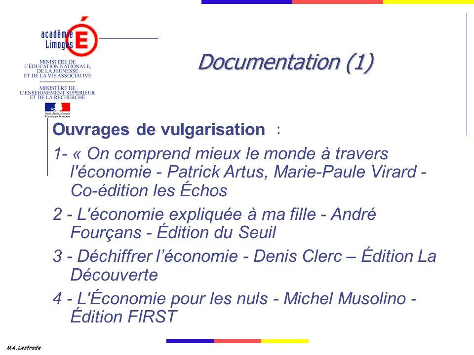 Documentation (1) Ouvrages de vulgarisation :