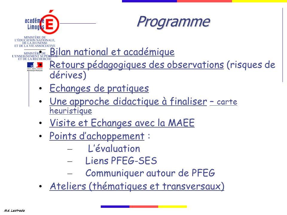 Programme Bilan national et académique