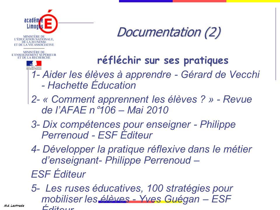 Documentation (2) réfléchir sur ses pratiques