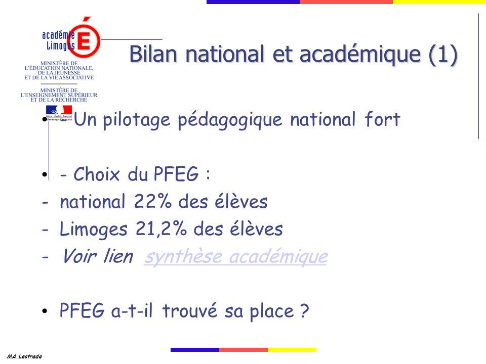 Bilan national et académique (1)