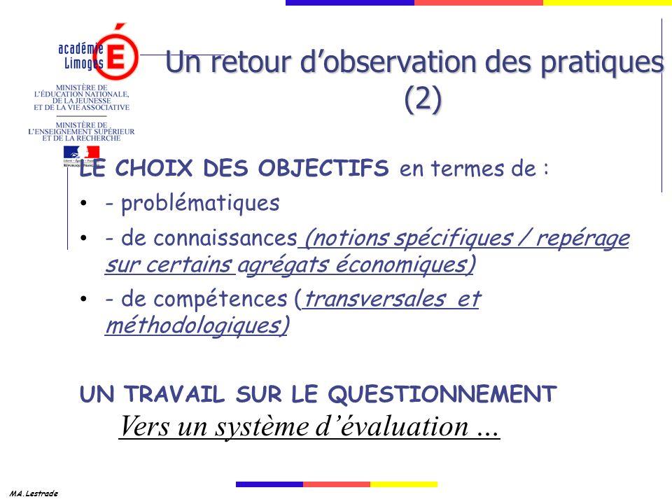 Un retour d'observation des pratiques (2)