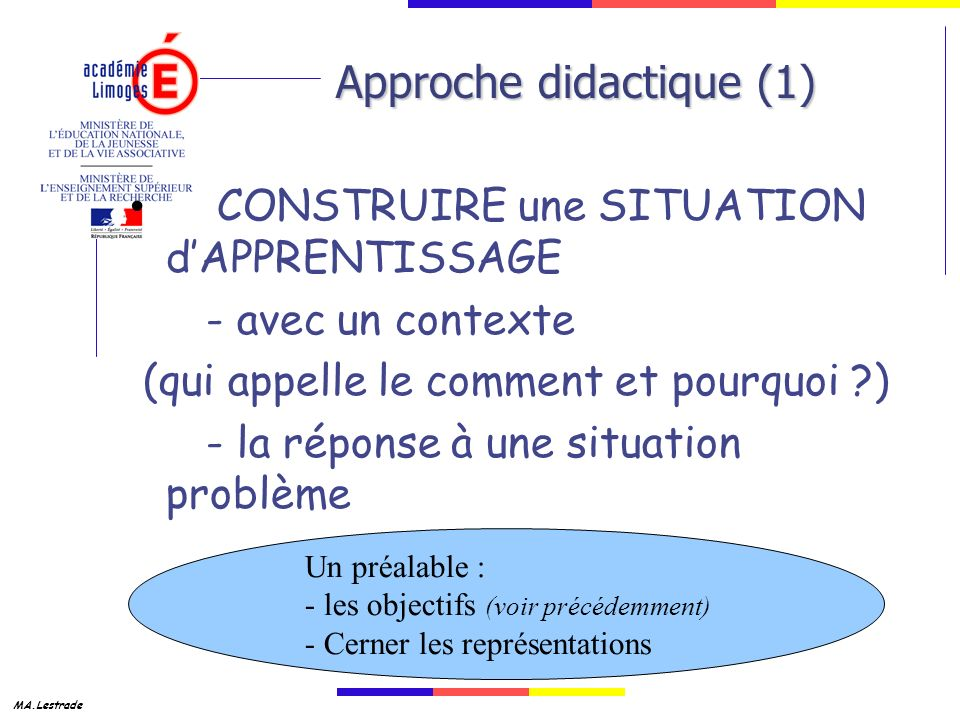 Approche didactique (1)