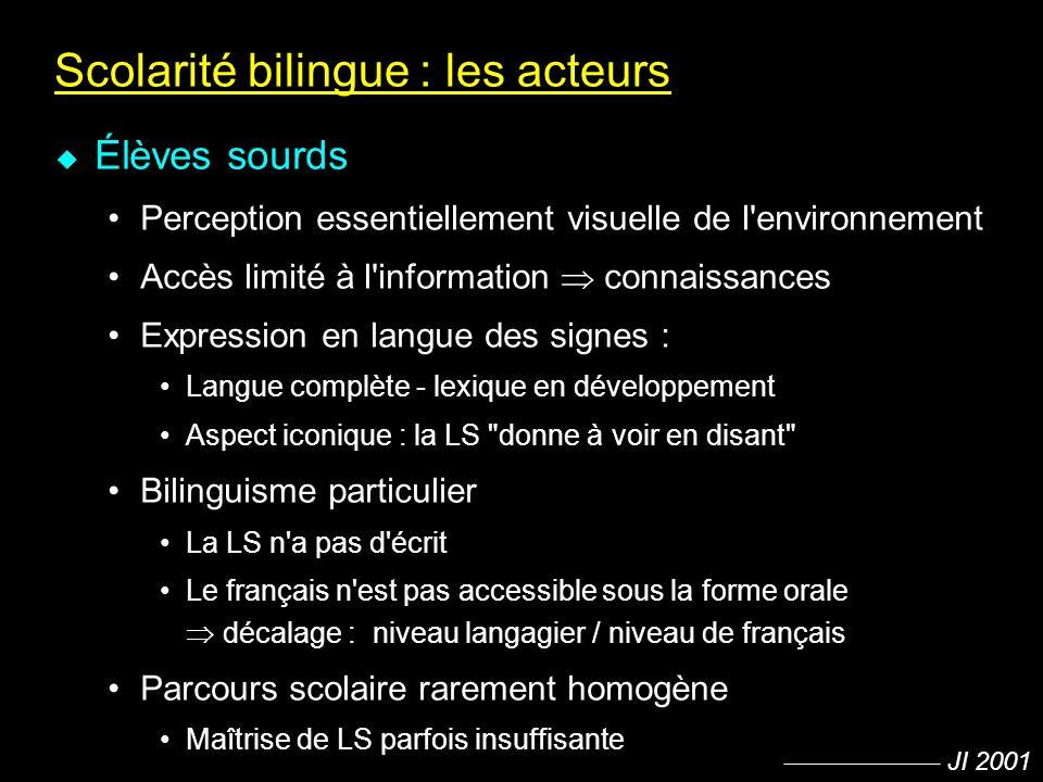 Scolarité bilingue : les acteurs