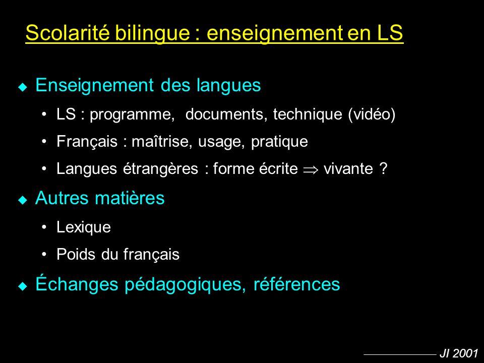 Scolarité bilingue : enseignement en LS