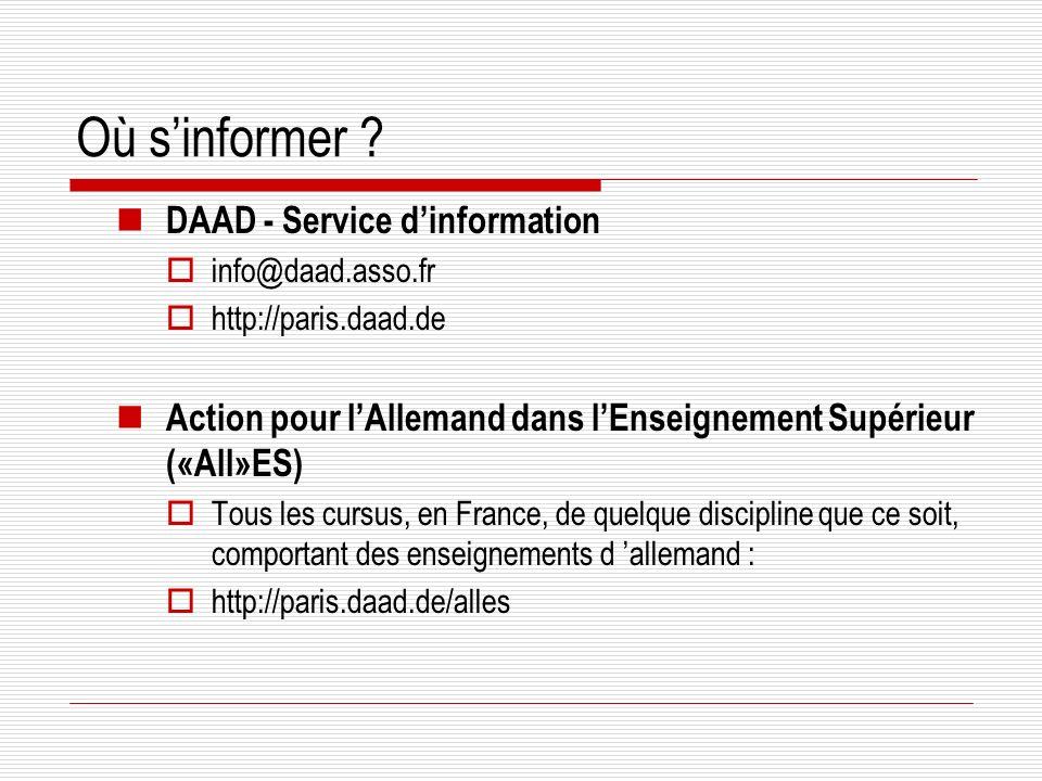 Où s'informer DAAD - Service d'information