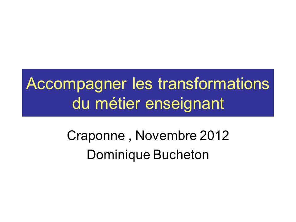Accompagner les transformations du métier enseignant