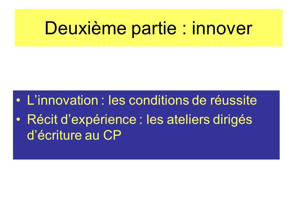 Deuxième partie : innover