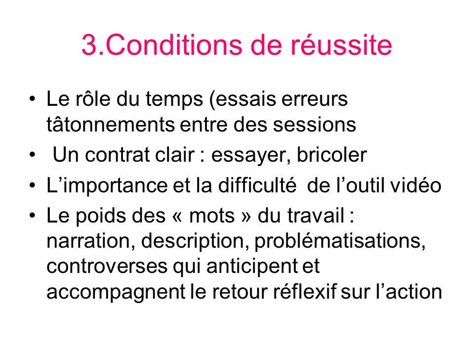 3.Conditions de réussite