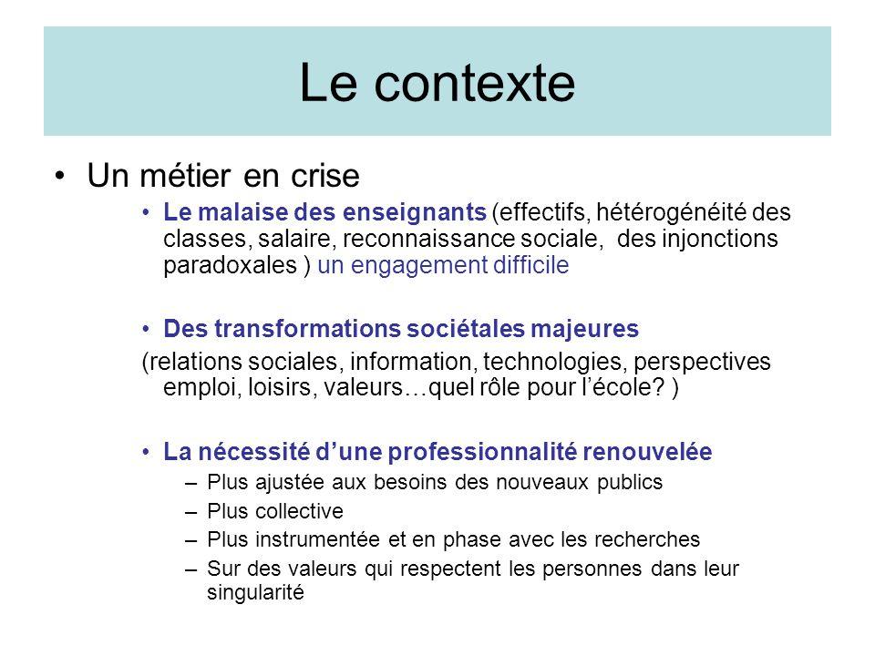 Le contexte Un métier en crise