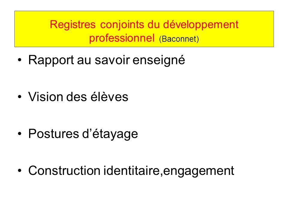 Registres conjoints du développement professionnel (Baconnet)