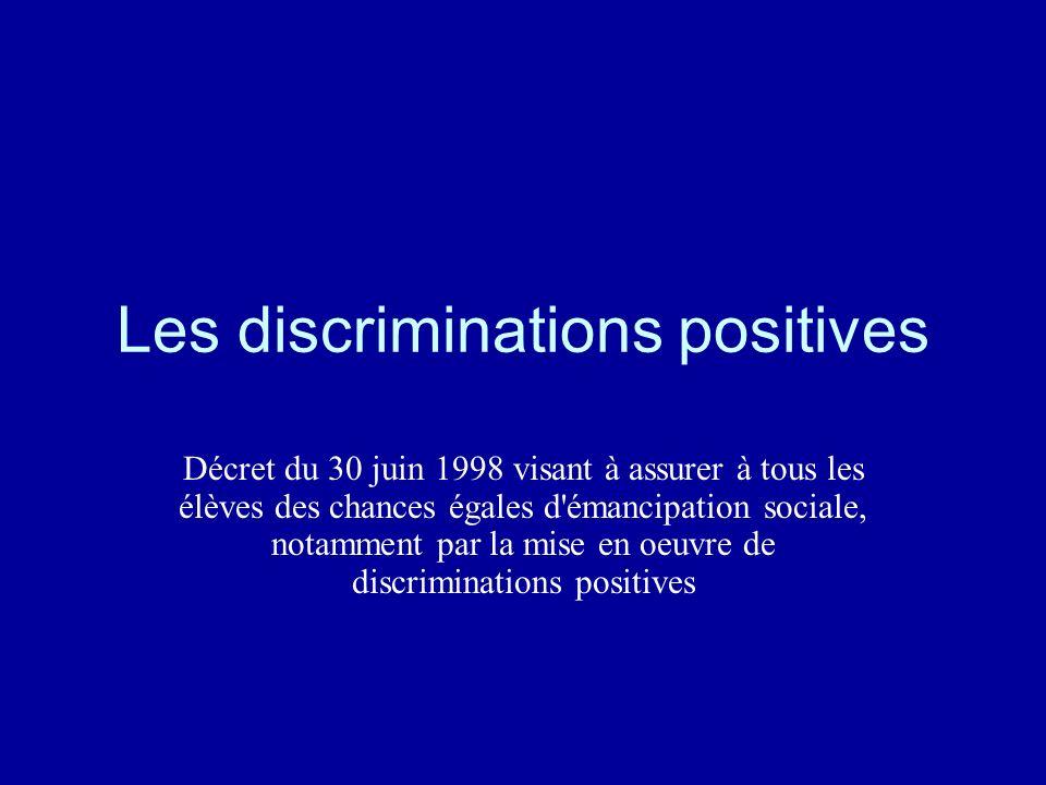 Les discriminations positives