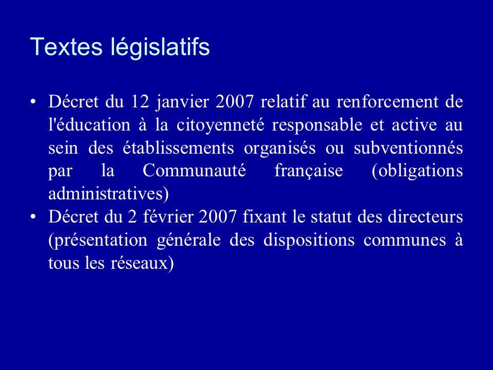 Textes législatifs
