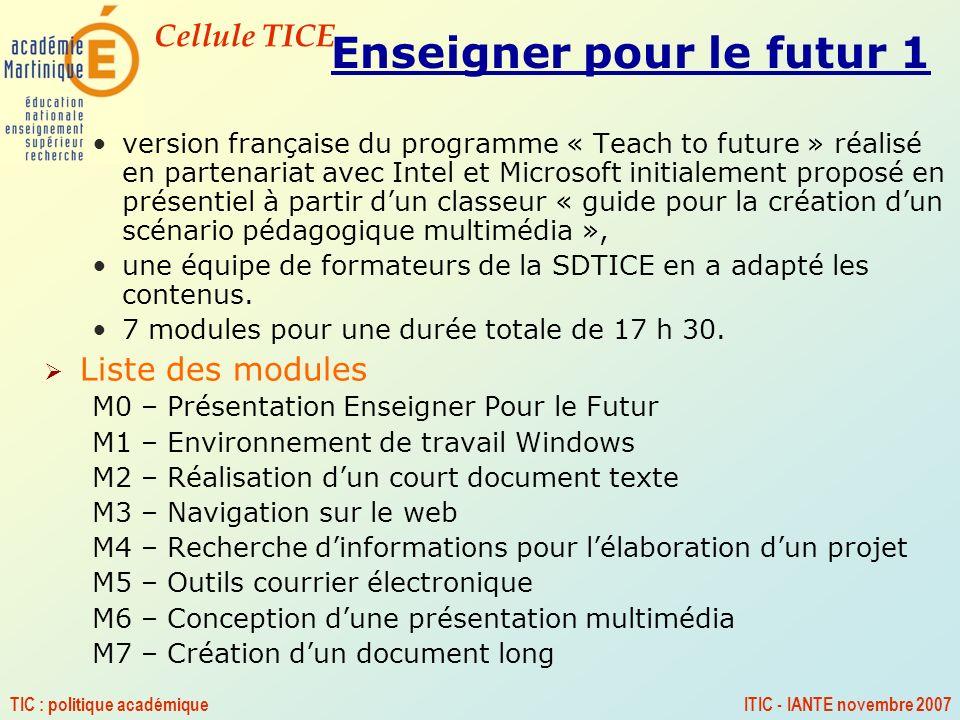 Enseigner pour le futur 1