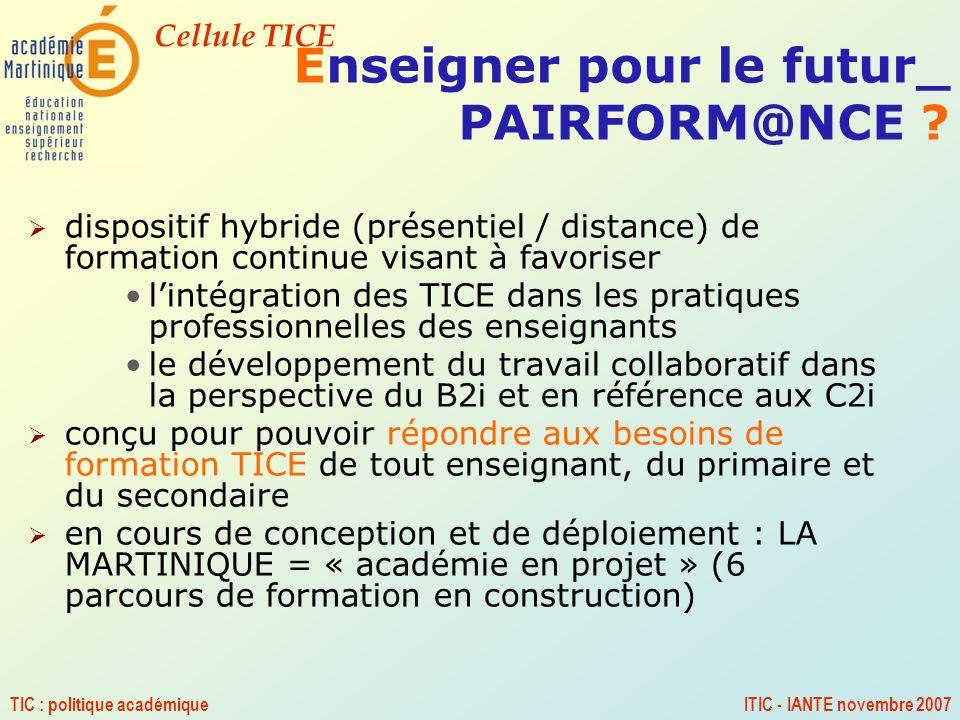 Enseigner pour le futur_ PAIRFORM@NCE