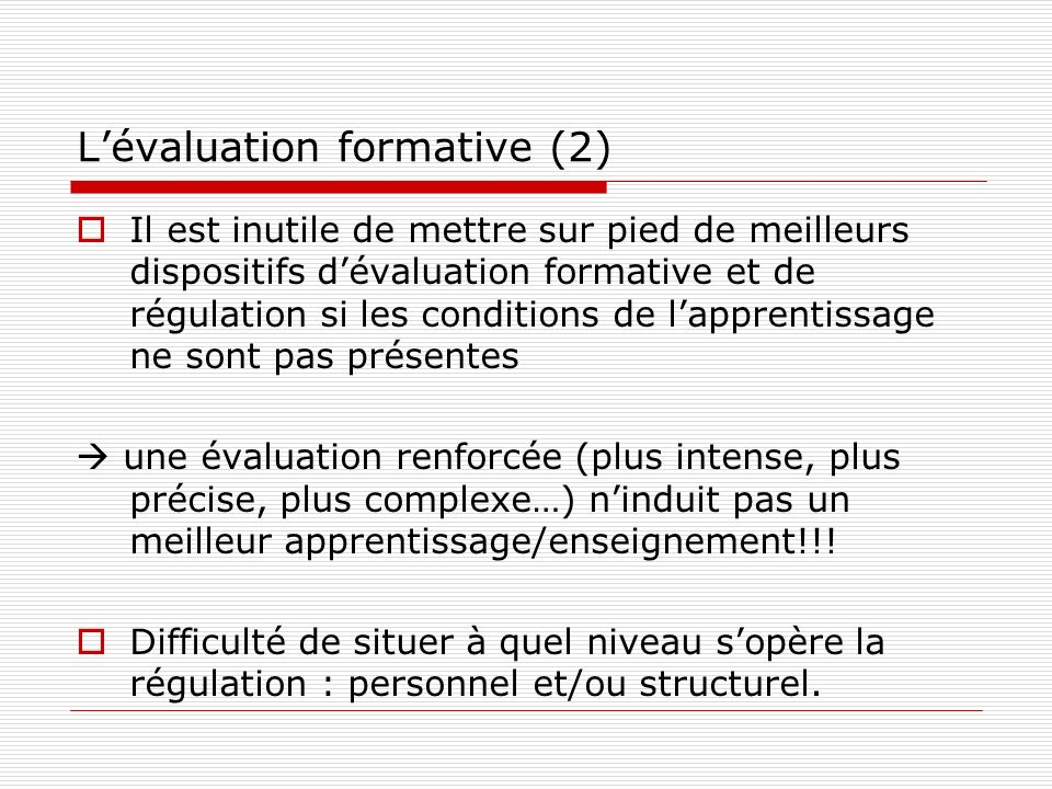 L'évaluation formative (2)