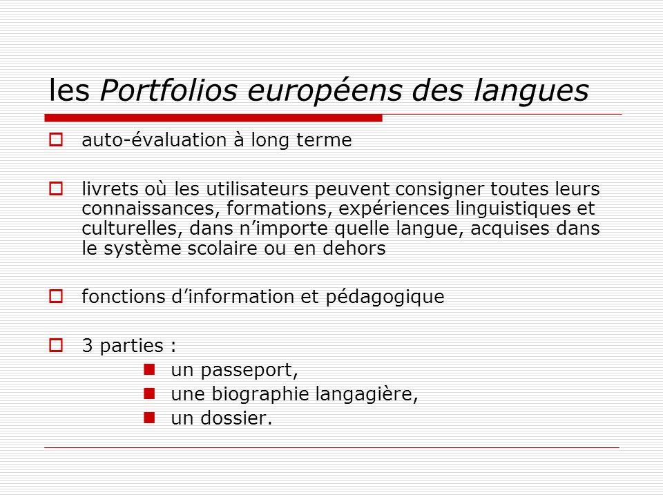 les Portfolios européens des langues