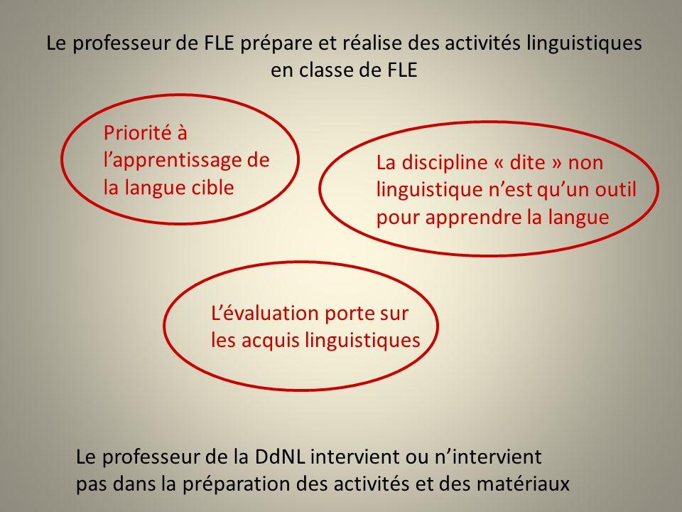 Le professeur de FLE prépare et réalise des activités linguistiques