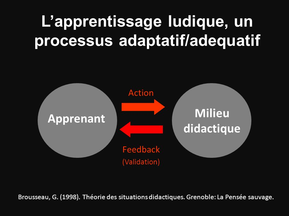 L'apprentissage ludique, un processus adaptatif/adequatif