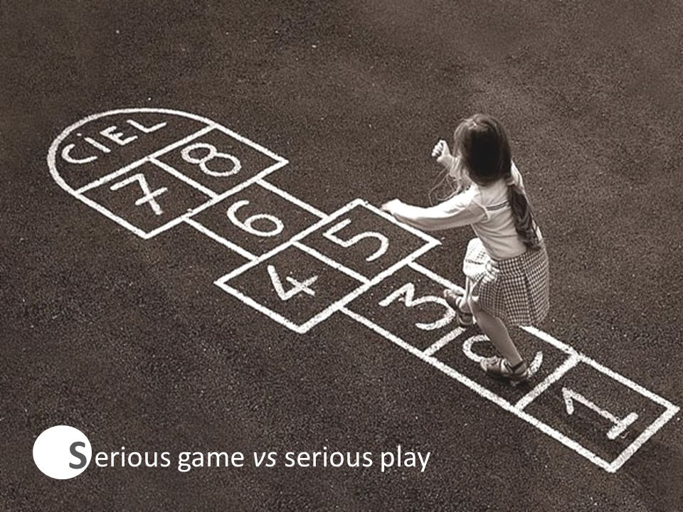 S C erious game vs serious play 4