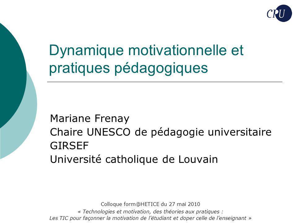 Dynamique motivationnelle et pratiques pédagogiques