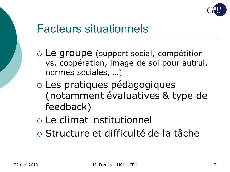 Facteurs situationnels