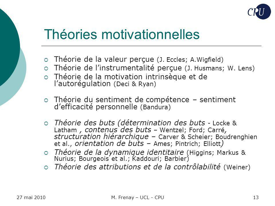 Théories motivationnelles