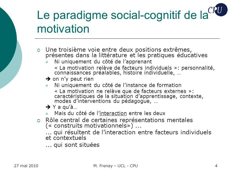 Le paradigme social-cognitif de la motivation