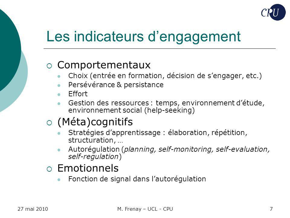 Les indicateurs d'engagement