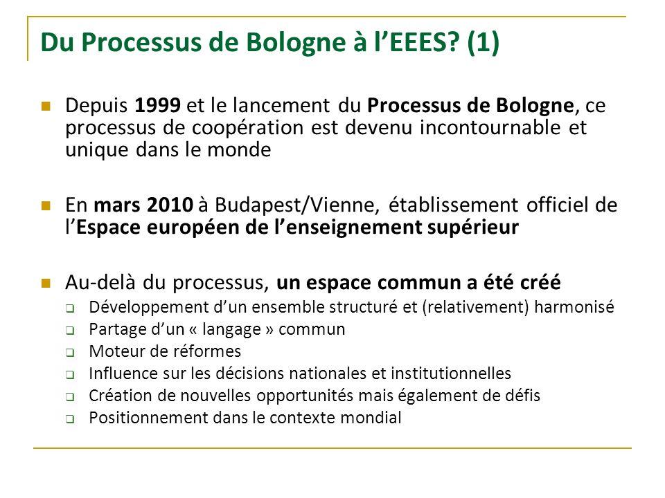 Du Processus de Bologne à l'EEES (1)
