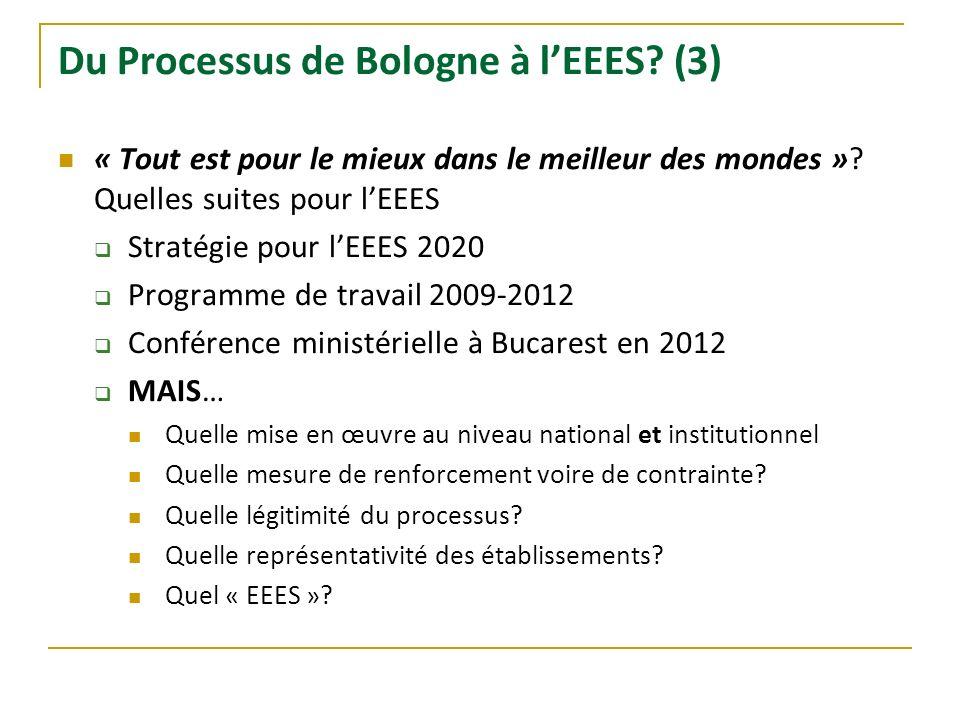 Du Processus de Bologne à l'EEES (3)
