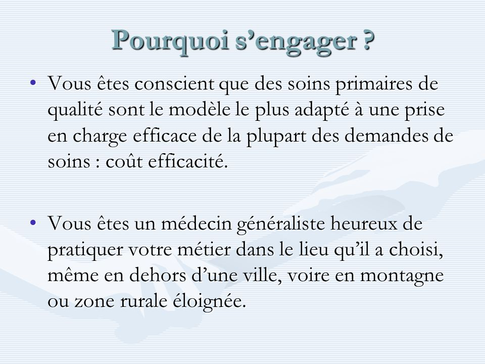 Pourquoi s'engager