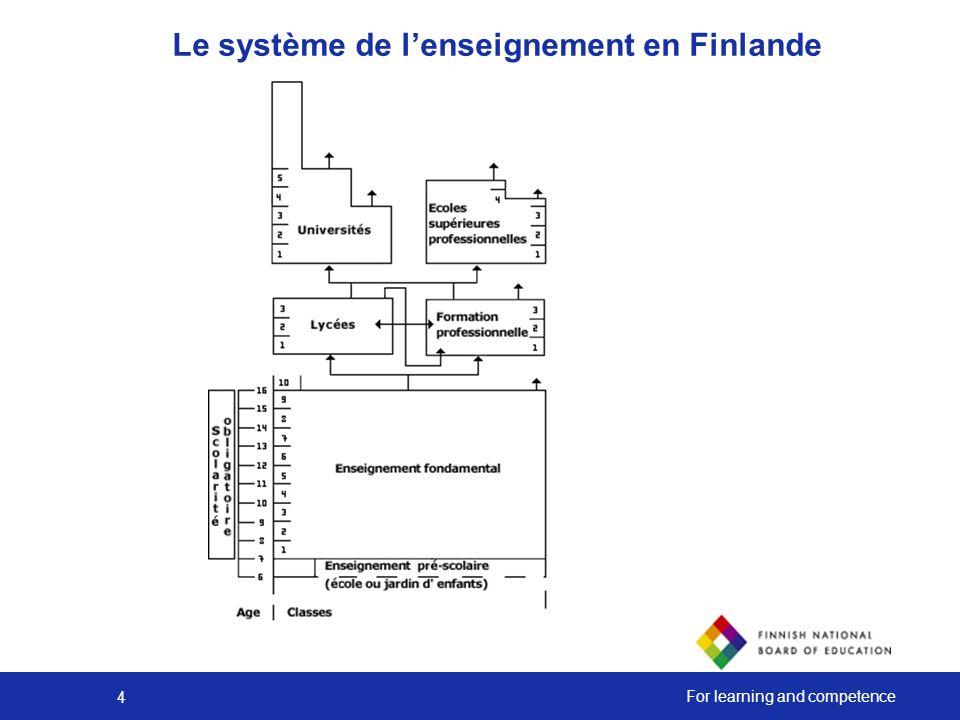 Le système de l'enseignement en Finlande