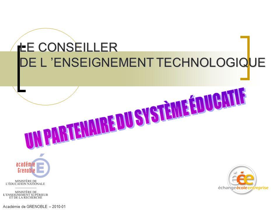 LE CONSEILLER DE L 'ENSEIGNEMENT TECHNOLOGIQUE