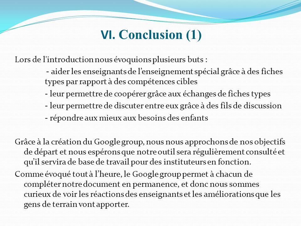 VI. Conclusion (1)