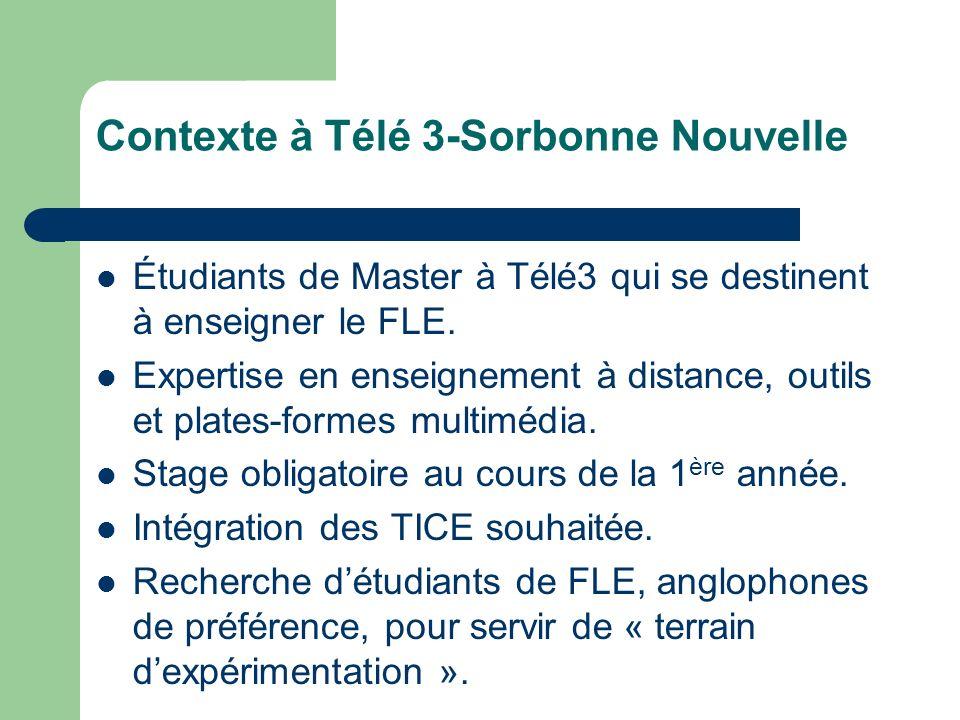 Contexte à Télé 3-Sorbonne Nouvelle