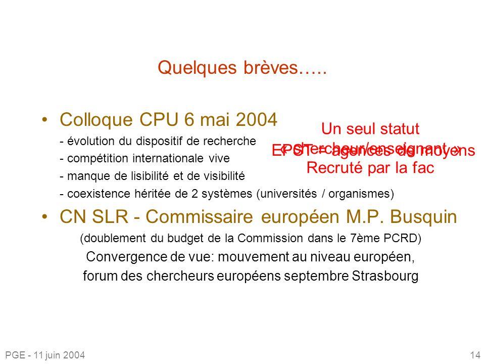 CN SLR - Commissaire européen M.P. Busquin