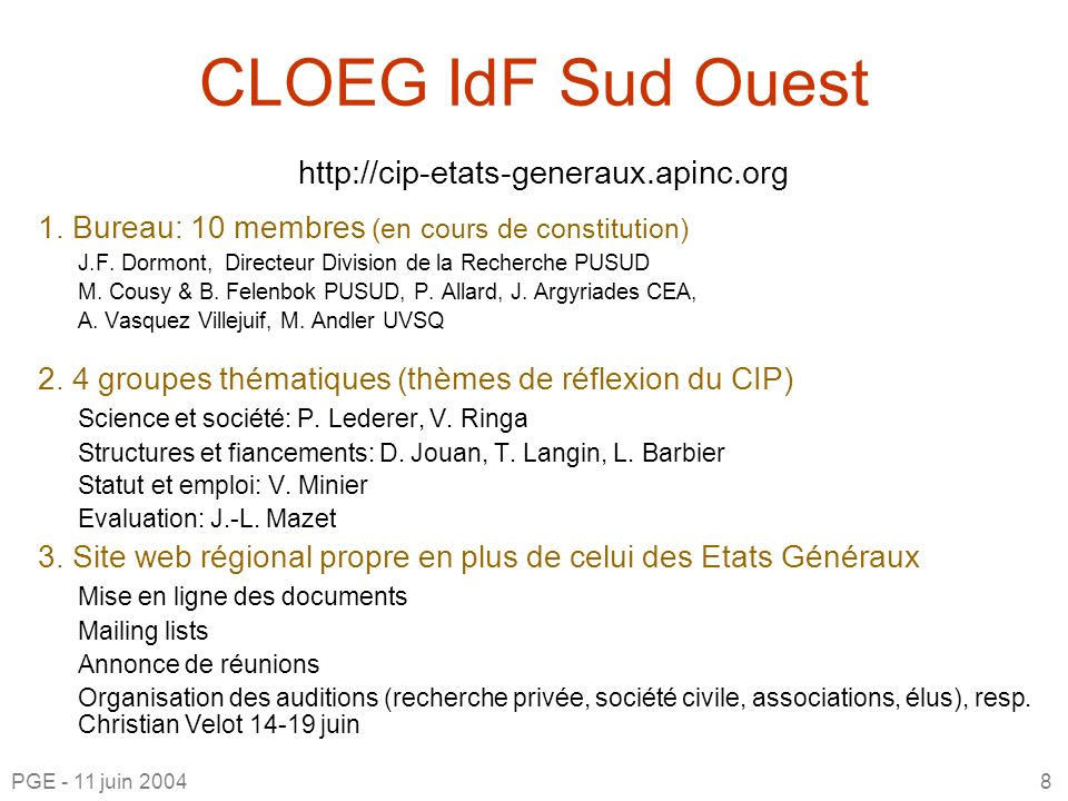 CLOEG IdF Sud Ouest http://cip-etats-generaux.apinc.org