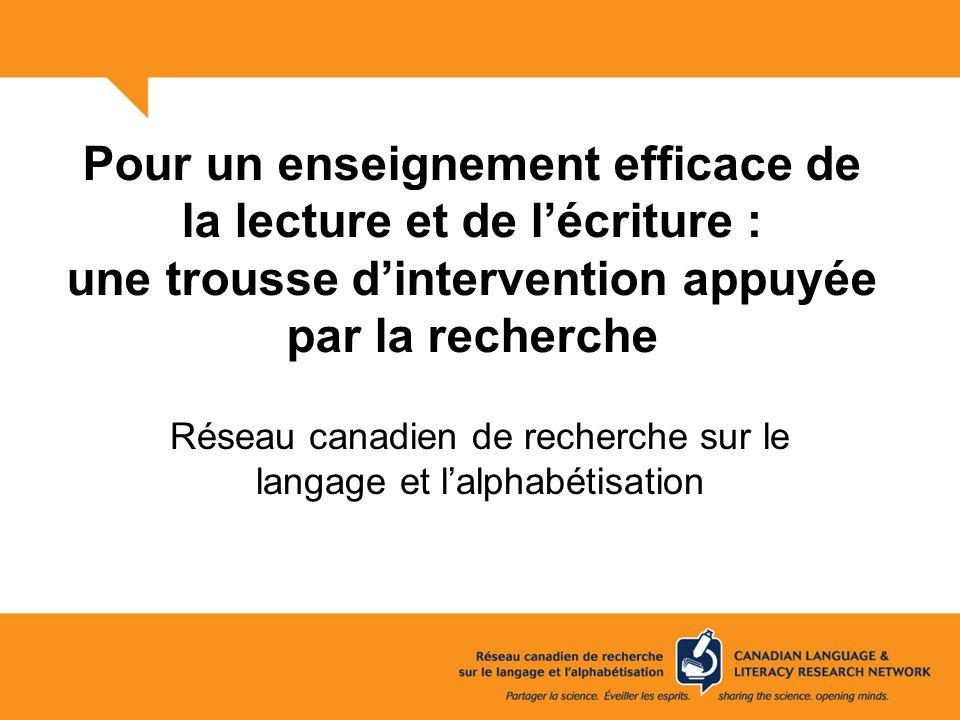 Réseau canadien de recherche sur le langage et l'alphabétisation
