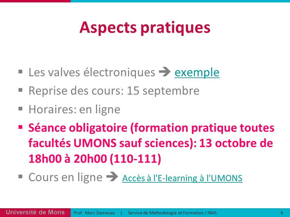 Aspects pratiques Les valves électroniques  exemple