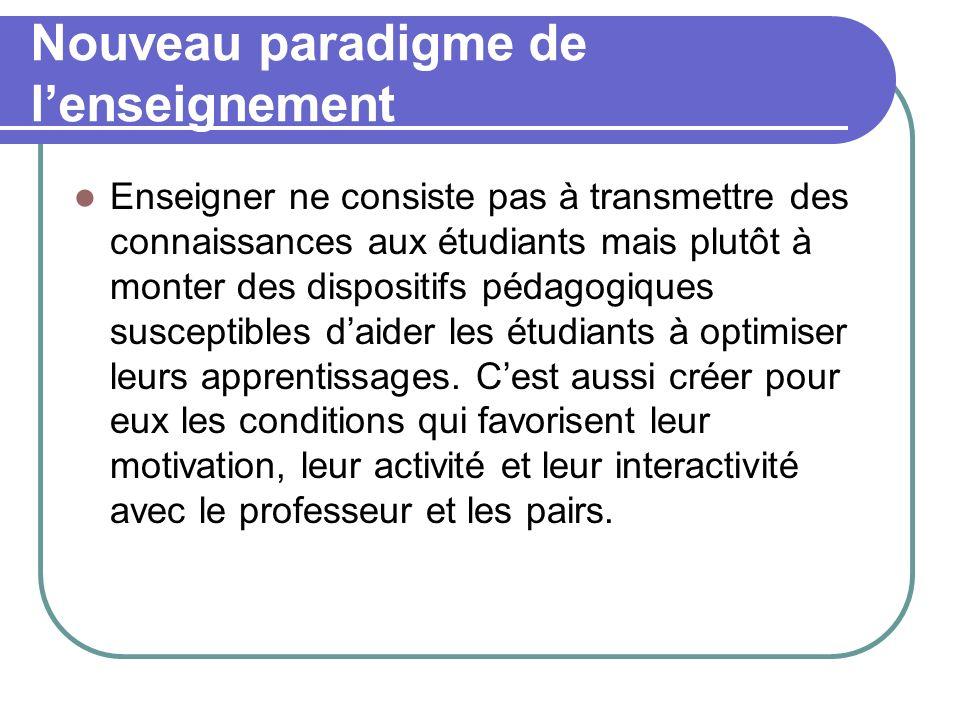 Nouveau paradigme de l'enseignement