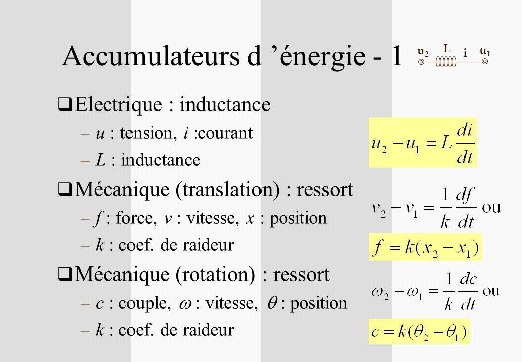 Accumulateurs d 'énergie - 1