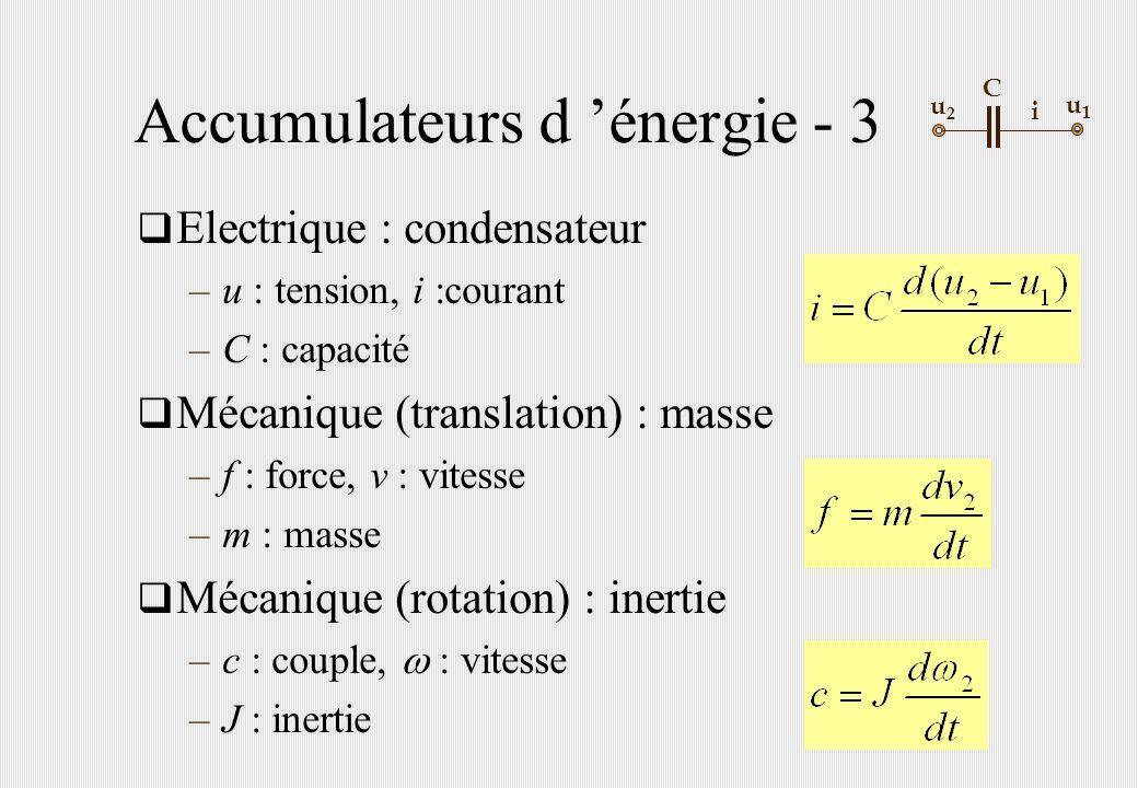 Accumulateurs d 'énergie - 3