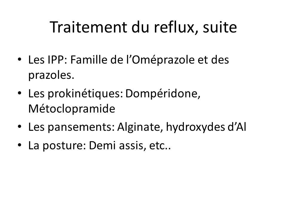 Traitement du reflux, suite