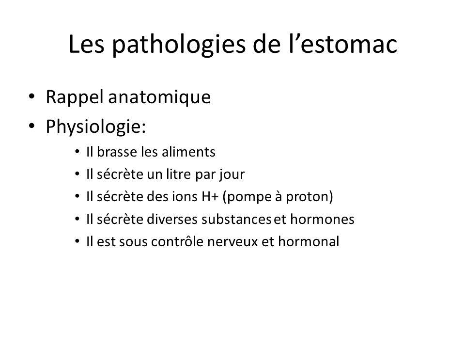 Les pathologies de l'estomac