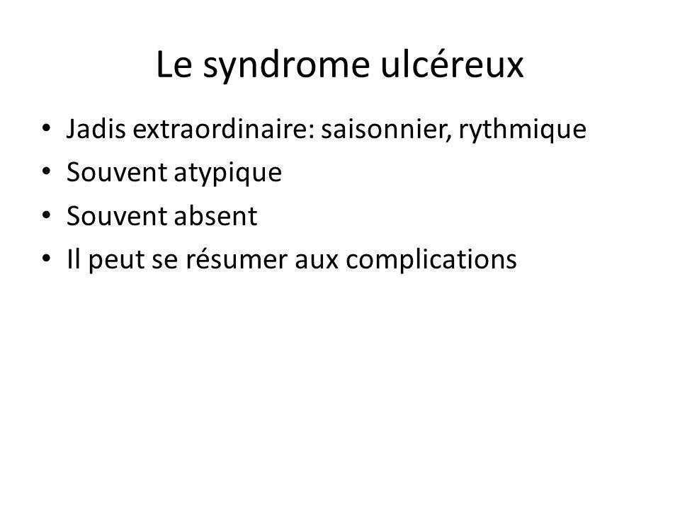 Le syndrome ulcéreux Jadis extraordinaire: saisonnier, rythmique