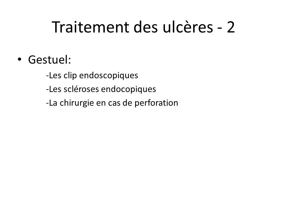Traitement des ulcères - 2