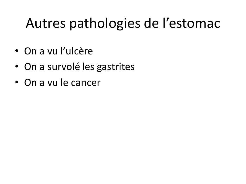Autres pathologies de l'estomac