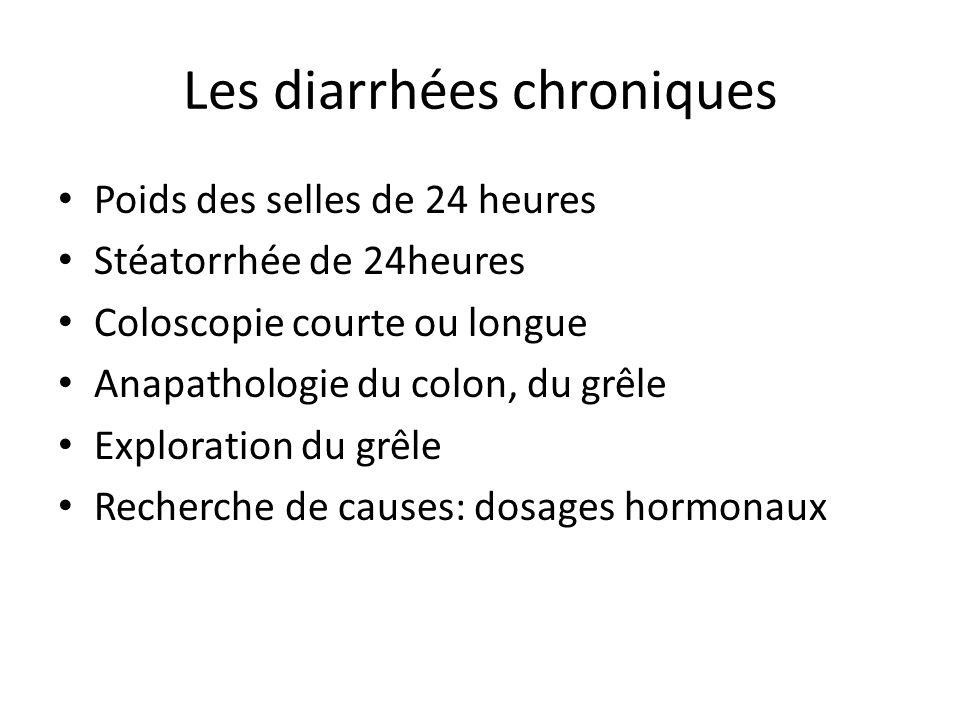 Les diarrhées chroniques