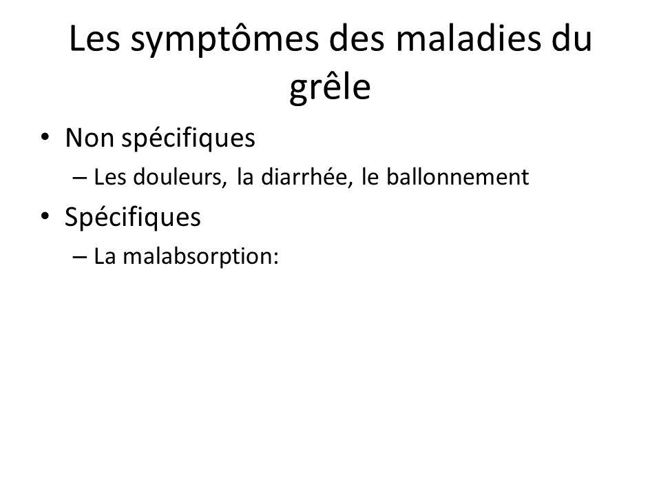 Les symptômes des maladies du grêle
